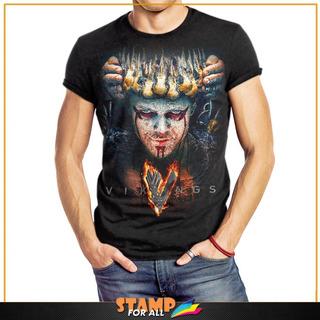 Camiseta Vikings Rei Ivar O Sem Ossos Ragnar Lothbrok Mod 02