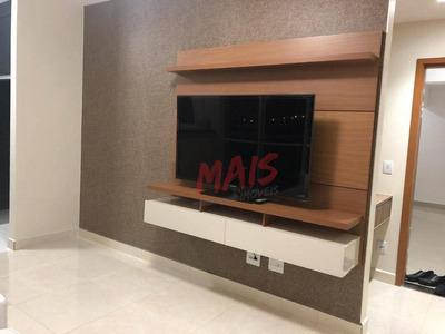 Apartamento Com 1 Dormitório Para Alugar Por R$ 3.000/mês - Encruzilhada - Santos/sp - Ap5094