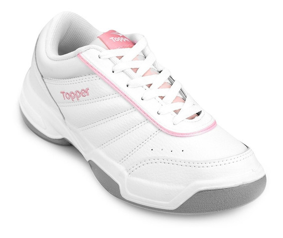 Zapatillas Topper Modelo Tenis Tie Break 3 Blanco/rosa