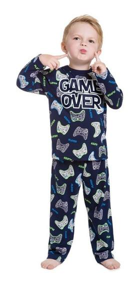 Pijama Infantil Menino Game Over Anti-mosquito Kyly