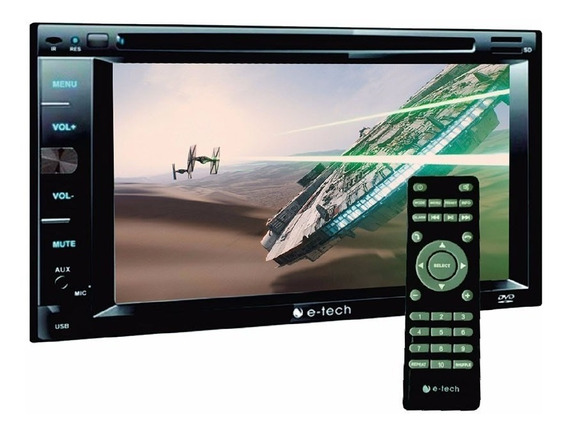 Dvd Player E Tech 2 Din 6,2 Usb Bluetooth + Controle Remoto
