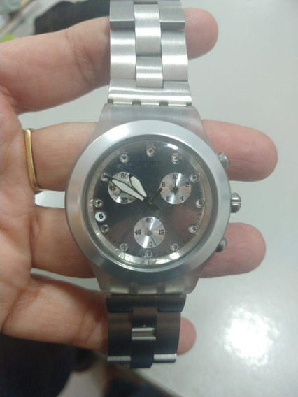 Relógio Swatch Irony Diaphane Prata Ou Dourado