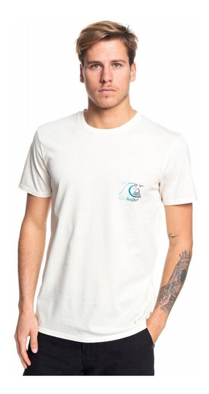 Quiksilver Remera M/c Hombre Faded Potential Blanco