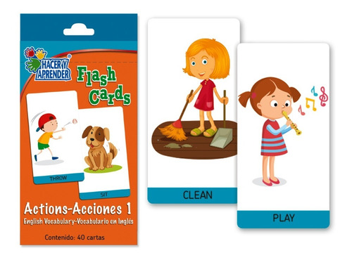 Flashcards Actions 1  Ingles Material Didáctico