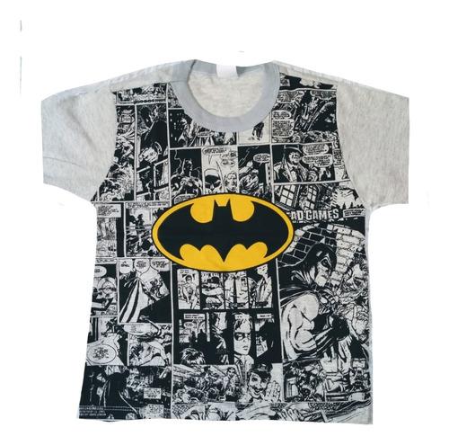 Imagem 1 de 6 de Kit 6 Camiseta Masculina Infantil Atacado Personagem Herois