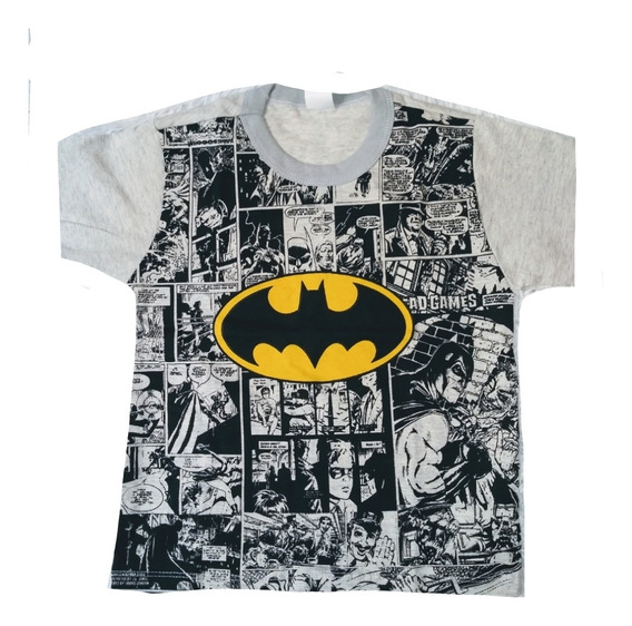Kit 6 Camiseta Masculina Infantil Atacado Personagem Herois