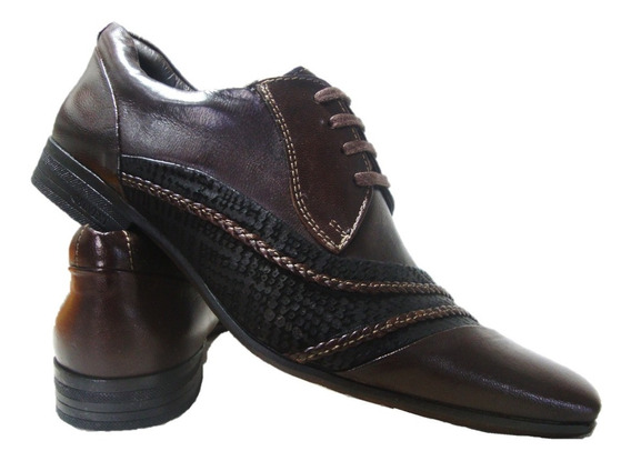 Sapato Social Masculino Calvest 1391 A 968 Marrom