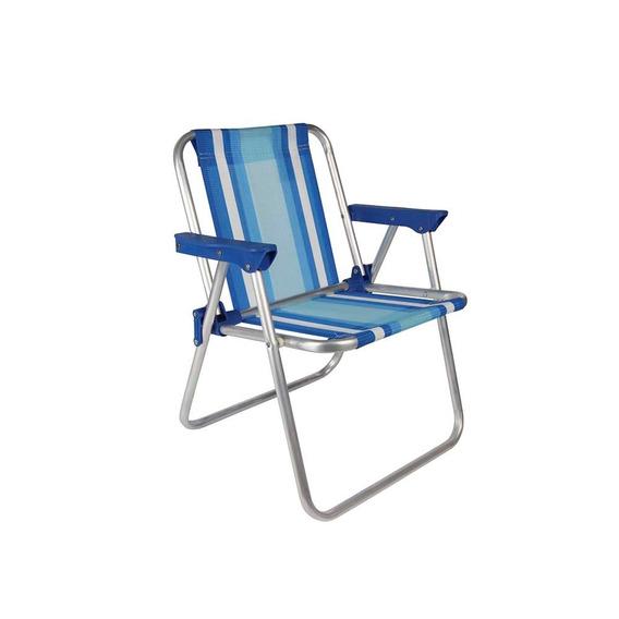 Cadeira Criança Alumínio Rosa Azul Praia Camping Mor