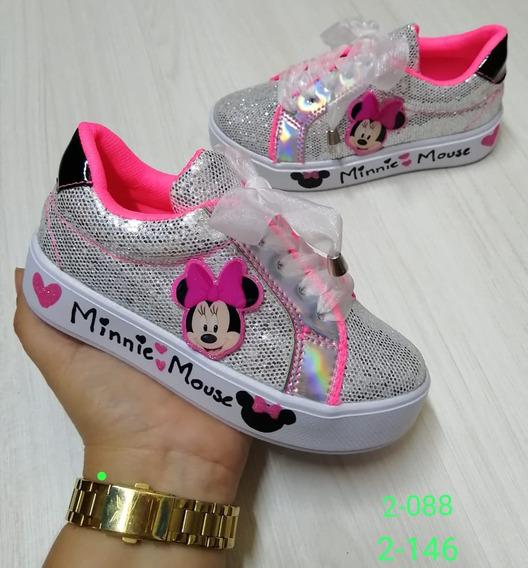 Zapatos Botas Niñas Minnie Mouse Plata- Industria Colombiana