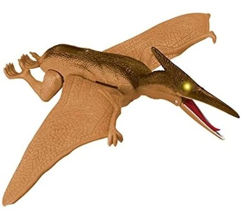 Dinosaurio Volador 30cm Luz Y Sonido Pterosaurio Mueve Alas