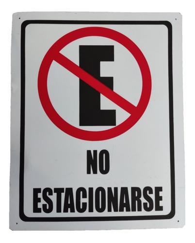Imagen 1 de 2 de 1 Letrero Señalamiento Señaletica De Lamina, No Estacionarse