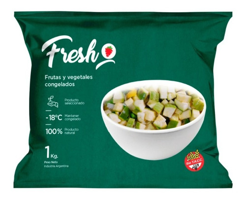 Zuchini Cubeteado Congelado Iqf Fresh X 1kg