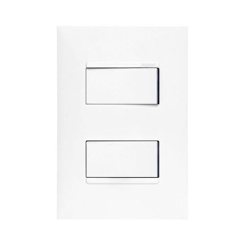 Imagem 1 de 4 de 2 Interruptores Simples 4x2 Branco Pial Plus +