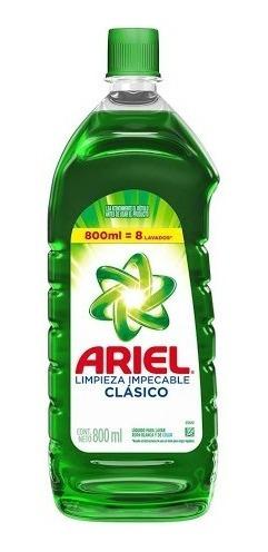 Jabón Liquido Para Ropa Ariel Clásico 800ml X 3 Unidades