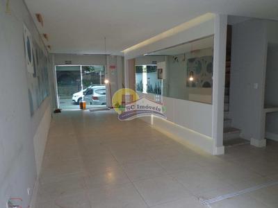 Casa Com 05 Salas Comercial, Boqueirão, Santos, Cod: 3765 - A3765
