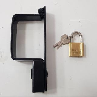 Trava Portao Cadeado C/ Cadeado Pado N.5 Med: 6,0cm X9,0cm
