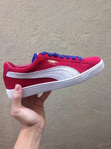 Tênis Puma Suede Classic - Vermelho E Branco