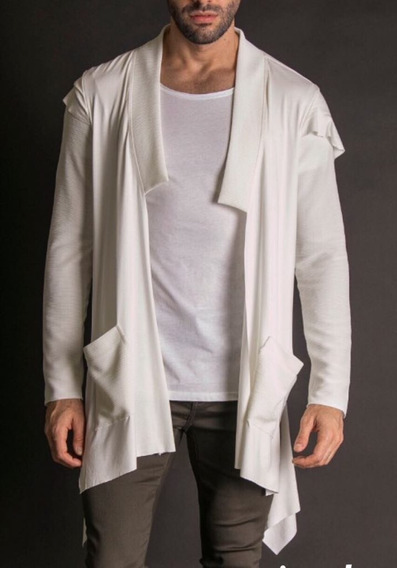Casaco Cardigan Pargan Capuz Off White