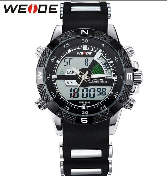 Relógio Masculino Militar Weide Wh1104 Anadigi Original