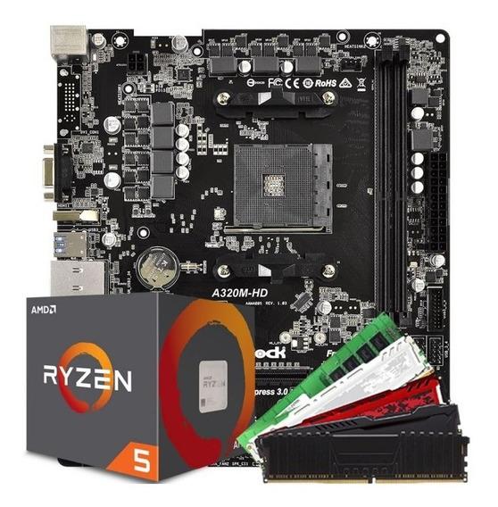 Ryzen 5 2600 S/video +a320 + 8gb Ddr4 Gamer - Kit Upgrade