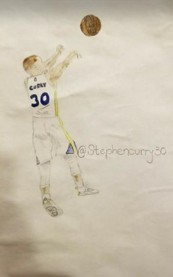 Dibujo De Stephen Curry Con Las Curry 5