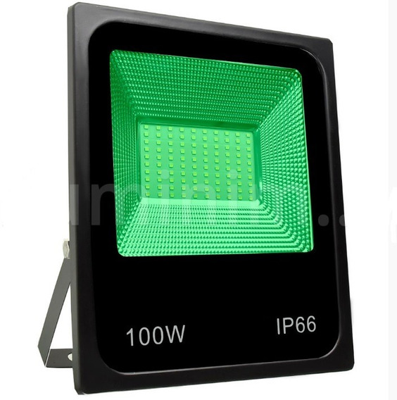 Refletor 100w Luminária Jardim Spot Luz Cor Verde Super Led