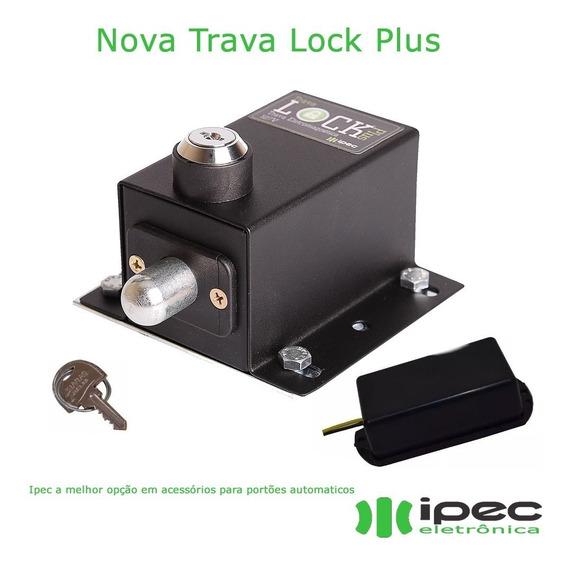Kit Trava Eletromagnética Lock Plus 110v + Suporte