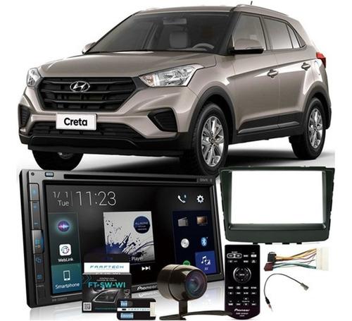Imagem 1 de 8 de Dvd Player Automotivo Hyundai Creta 2017 A 2019 Avh-z5280tv Pioneer + Câmera De Ré + Moldura 2din + Chicotes + Interface