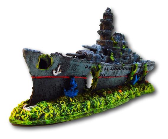 Enfeite Para Aquário Barco, Navio, Fragata 325 B44