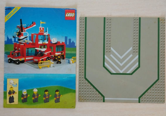 Lote Lego 6389 Fire Control Center Manual Placa Base Boneco
