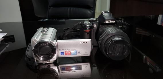 Câmera Nikon D3000 + Filmadora Sony Dcr-sr68 + 2 Sd Card 32