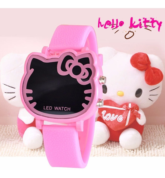 Rel?gio Digital Infantil Led Hello Kitty Rosa
