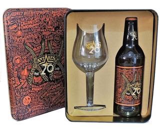 Cerveza Antares 20 Años Con Copa Y Estuche Lata.