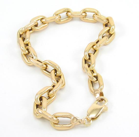Esfinge Jóias - Pulseira Cadeado Masculina Em Ouro 18k 750.