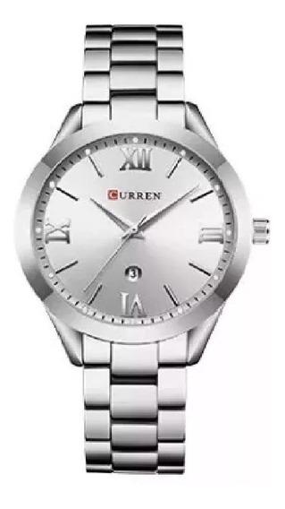Kit Com 2 Relógios Curren Feminino 9007 E Masculino 8110