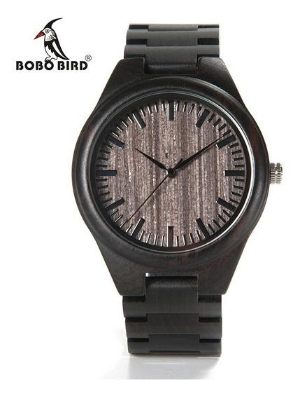 Relógio De Madeira Masculino Bobo Bird O082 - Lindo!