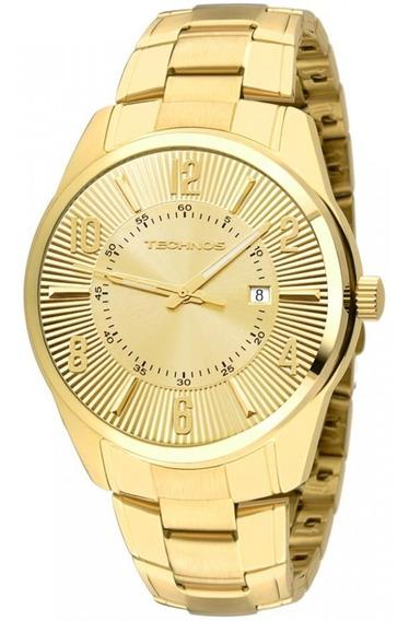 Relógio Masculino Dourado Technos Classic 2115te/4x Em Aço