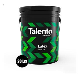 Latex Talento Interior Blanco Mate Pared 20 Lts Envio Gratis