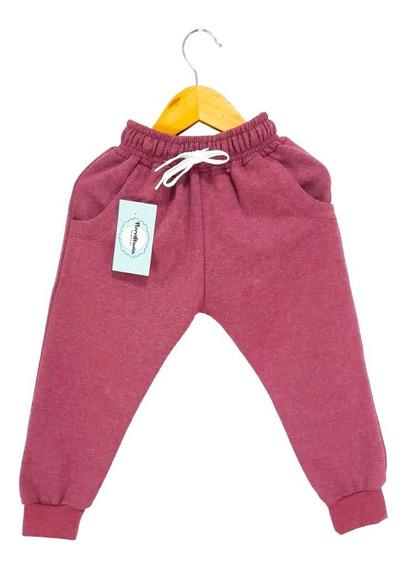 Pantalón Babucha Liso De Algodón Doble Friza Para Niño