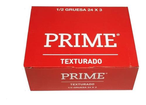 Imagen 1 de 1 de Preservativos Prime Texturado 24 Cajitas X 3 Unidades