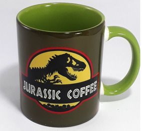 Caneca Jurassic Park Porcelana Interior Colorido
