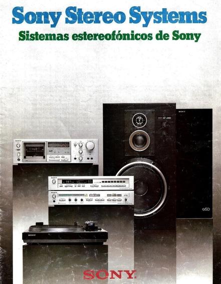 Catalogo Sony Sistemas Audio Hi-fi Japon 1980 Ing-esp (pdf)