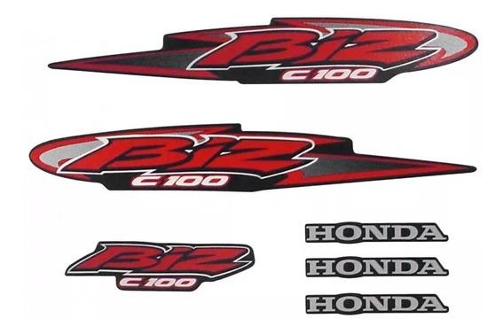 Kit Adesivo Jogo Faixas Moto Honda Biz 100 2005 Ks Preta