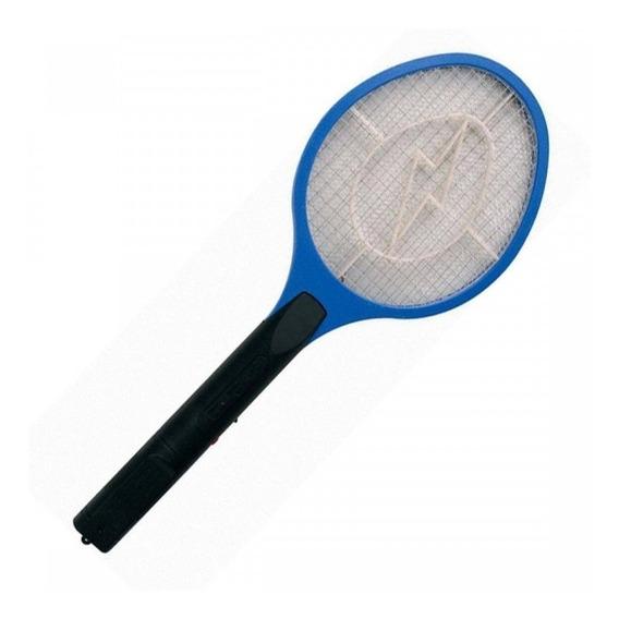 Raquete Elétrica Recarregável Bi-volt Mata Moscas Mosquito,