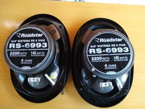Par De Alto Falante 6x9 2200 W Roadstar Semi Novo