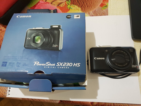 Câmera Canon Powershot Sx 230hs 12.1 Mp Zoom Optico 14x Gps