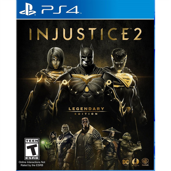 Injustice 2 Legendary Edition Ps4 Mídia Física Novo Lacrado