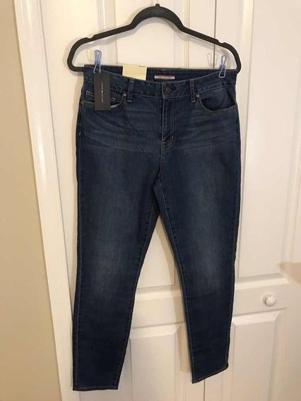 Linda Calça Jeans Tommy Hilfinger Skinny Fem 8- Cod 176