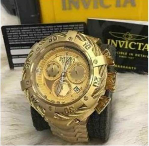 Relógio Masculino Thunderbolt Suíço Dourado