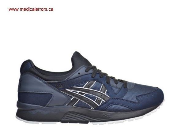 Tenis Asics Tiger Hombre Azul Casuales Gel Lyte V Hn6a45090